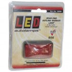 Led-SIDE LAMP RED 12/24V 58x35x19