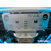 Hilux Revo 3-pc. skidplate AL4mm