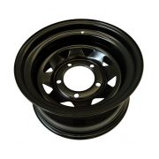 STEEL WHEEL 8X16 +8 BLACK