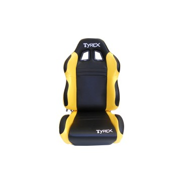 TYREX SPORT SEAT LEATHER BLACK AND YELLOW