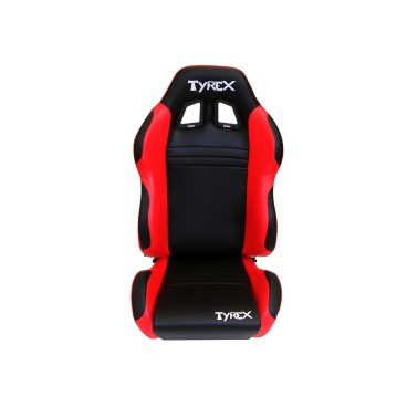 TYREX SPORT SEAT LEATHER BLACK AND RED
